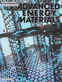 Advanced Energy Materials cover showing a 3D porous structure consisting of carbon nanotubes and graphene layers for oxygen and hydrogen electrocatalytic applications.
